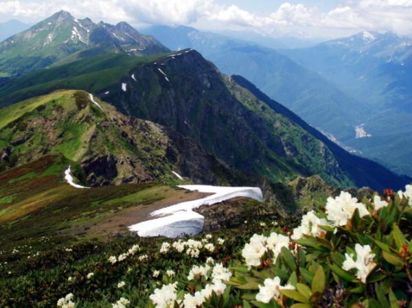 Горы в районе Красной Поляны