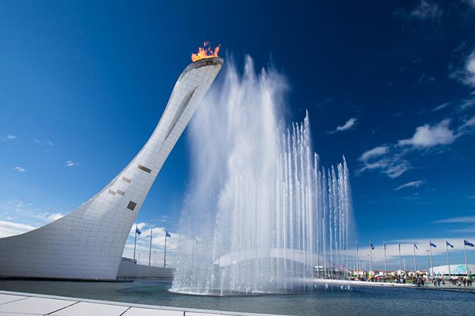 Фонтаны в Олимпийском парке