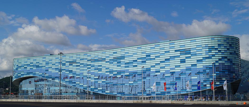 Фасад ледового дворца