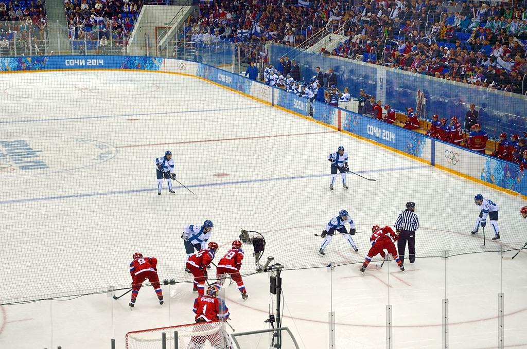 Хоккейный матч в Шайбе